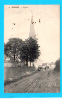 CPA VERLAINE : L'Eglise N° 4 - Petite Animation Et Circulée En 1912 - Ed N. Laflotte - 2 Scans - Verlaine