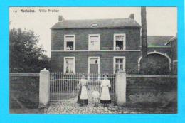 CPA VERLAINE : Villa Pralier N° 13 - Animée Et Circulée En 1912 - Ed N. Laflotte - 2 Scans - Verlaine