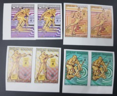MADAGASCAR 1992 1994 - IMPERF PAIRS PAIRES ND - WINTER OLYMPIC GAMES LILLEHAMMER SKI SHOOTING - ULTRA RARE MNH - Inverno1994: Lillehammer
