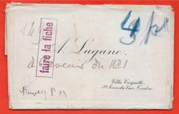 Carte De Visite Dans La Pochette Du Graveur Stern (A. LAGANE Villa Coquette St Saint-Jean-du-Var 83 TOULON) - Cartoncini Da Visita