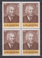 USSR Russia 1980 Block 100th Birth Anniv A.F. Joffe Famous People Physicist Physics Sciences Soviet Stamps MNH Mi 5007 - Celebrations
