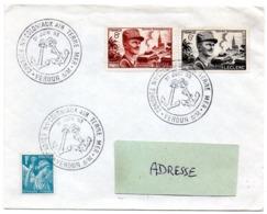MARINE = 55 VERDUN 1953 = CACHET Illustré De 2 ANCRES + ' CONGRES COLONIAUX AIR TERRE MER' - Marcophilie (Lettres)
