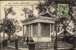 Cp Hanoi Tonkin Nam Dinh Vietnam, Monument De Lamothe De Carrier - Viêt-Nam
