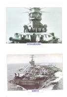 """2 Bateaux - """"NIMITZ"""" (Porte-Aéeonefs) Et """" STRASBOURG"""" (Navire De Ligne) (Divers 15) - Schiffe"""