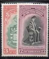 CI242 - SAINT VINCENT 1951 Inauguration Of B W I University College Set Of 2 ***  MNH - St.Vincent (...-1979)
