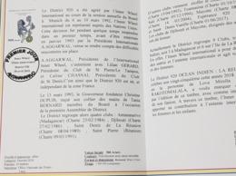 MADAGASCAR 2018 - OFFICIAL DOCUMENT - FLYER - FOLDER - NOTICE PHILATELIQUE - INNER WHEEL LIONS CLUB DISTRICT 920 - RARE - Rotary, Lions Club