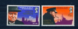 SOUTH GEORGIA - 1974 Churchill Set Unmounted/Never Hinged Mint - Falkland Islands
