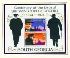 SOUTH GEORGIA - 1974 Churchill Miniature Sheet Unmounted/Never Hinged Mint - Falkland Islands