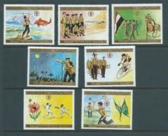 Yemen 1980 Scout Set 7 MNH - Yemen