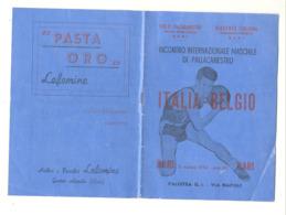 Basket-ball - Rencontre Internationale ITALIA BELGIO à BARI En 1952 - Livret De 14 Pages Avec Publicités (b267) - Programme