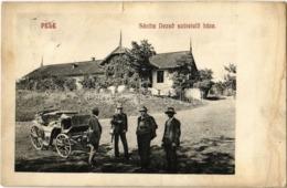 1911 Pele, Becheni; Sántha Dezső Szüretelő Háza, Hintó - Romania - Romania