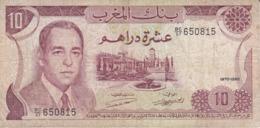 BILLETE DE MARRUECOS DE 10 DIRHAMS DEL  AÑO 1970  (BANKNOTE) - Marocco