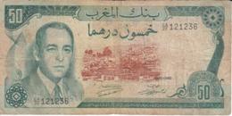 BILLETE DE MARRUECOS DE 50 DIRHAMS DEL  AÑO 1970  (BANKNOTE) - Marocco