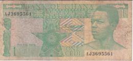 BILLETE DE GHANA DE 1 CEDI DEL AÑO 1979 (BANKNOTE) - Ghana