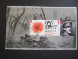 GREAT BRITAIN. 2018  WW I. 1918  PANE 2 FROM BOOKLET MNH** (V20-200) - 1952-.... (Elisabetta II)