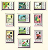 TRINIDAD AND TOBAGO - 1969 Definitives Chalk Surfaced Paper Set Unmounted/Never Hinged Mint - Trinidad & Tobago (1962-...)