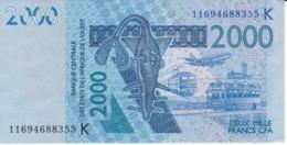 BILLETE DE SENEGAL DE 2000 FRANCS DEL AÑO 2003 (PEZ-FISH) (BANK NOTE) - Senegal