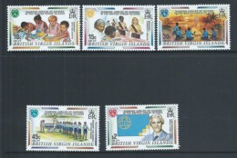 Virgin Islands 1996 Girl Guide Anniversary Set Of 5 MNH - British Virgin Islands