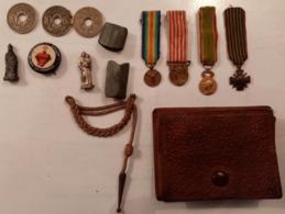 Petites Vierges, Monnaies, Mini Médailles,mini Fourragère, Porte Monnaies  / 14-18 / WW1/ Poilu - 1914-18