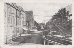 Luftkurort Eupen Aachenerstrabe Avec Tramway Circulée En 1921 Avec Cachet Correspondance Privée Armée Belge Voir Verso - Eupen