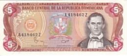BILLETE DE LA REPUBLICA DOMINICANA DE 5 PESOS ORO DEL AÑO 1982 EN CALIDAD EBC (XF) (BANKNOTE) - Dominicana