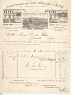 Facture,1901,  EAUX MINERALES DE VITTEL , Source Salée ,  Grande Source , Frais Fr 1.65 E - Francia
