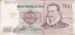 BILLETE DE CHILE DE 500 PESOS  DEL AÑO 1998  (BANKNOTE) - Chili