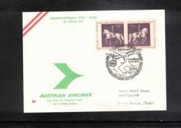 Austria / Oesterreich 1972 AUA Jugend Grussflugpost Wien - Berlin - Premiers Vols AUA