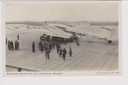 Vintage Rppc KLM K.L.M. Royal Dutch Airlines Fokker & Lufthansa Junkers G-38 @ Schiphol Airport - 1919-1938: Fra Le Due Guerre