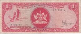 BILLETE DE TRINIDAD Y TOBAGO DE 1 DOLAR DEL AÑO 1964 (BANKNOTE) BIRD-PAJARO - Trinidad En Tobago