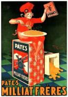 CPM - AFFICHE PUB - PÂTES ALIMENTAIRES MILLIAT FRERES - LYON - Henry LE MONNIER 1930 - Edition Cl.Aubert - Other