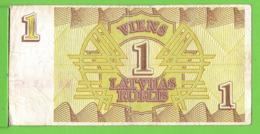 LETTONIE / 1 ROUBLE LETTON / 1992 - Letland