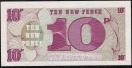 GREAT BRITAIN  PM48 10 NEW PENCE     1972    UNC. - Forze Armate Britanniche & Docuementi Speciali