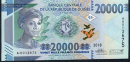 GUINEA NLP 20.000 Francs 2018 Issued 2019 UNC - Guinee