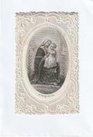 Image Religieuse - Canivet 1875  La Vierge Aux Lys  - Scan R/V - Devotion Images