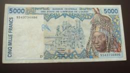 Mali West African States 5000 Francs 2003 D  Pick 413dj  Ref 6808 - Malí