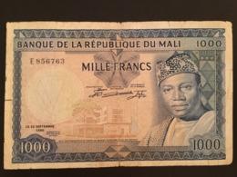 Mali 1000 Francs 1960 Pick 9 Ref 6763 - Malí
