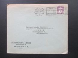 Dänemark 1937 Freimarken Wellenlinien 7 Öre Mit Perfin / Firmenlochung SM Stallknecht & Meyer Kobenhavn Nach Wien I - Cartas