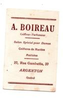 Carte Visite Argenton Sur Creuse Coiffeur Boireau  Rue Gambetta Parfum Arys - Cartes De Visite