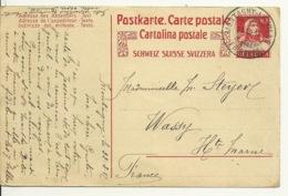 SUISSE - ENTIER POSTAL SUR CARTE POSTALE MONTAGNY 1917 - Lettres & Documents