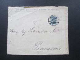Dänemark 1902 Freimarken Wappen Im Oval Mit Perfin / Firmenlochung Danske Landmandsbank Vekselbank - Lettere