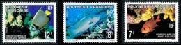 POLYNESIE 1980 - Yv. 147 148 Et 149 **   Cote= 3,95 EUR - Poissons Rouget, Napoléon, Ange (3 Val.)  ..Réf.POL24477 - Polinesia Francese
