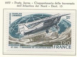 PIA - FRAN -1977 : 50° Anniversario Della Traversata Dell' Atlantico Del Nord Di Charles Lindberg  - (Yv P.A. 50) - Aerei