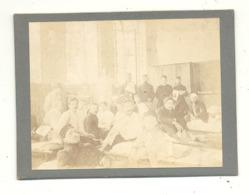 Photo Sur Carton ( +/- 8 X 10 Cm ) Hopital, Blessés, Datée D'août 1914 - Guerre 14/18. (b267) - Guerra, Militari