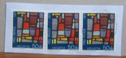 SVIZZERA 1971 PRO PATRIA Valori Su Frammento - Vetri & Vetrate