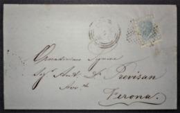 ANNULLI LOMBARDO VENETO: NUMERALE MONTAGNANA Padova - 1861-78 Vittorio Emanuele II