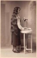 Carte Photo - Femme  Cheveux Longs - Cliché M. MAURER, Louviers (27) - Women