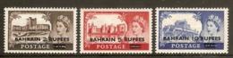 BAHRAIN 1955 CASTLES SET SG 94/96 LIGHTLY MOUNTED MINT Cat £40 - Bahrain (...-1965)