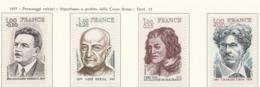 PIA - FRANCIA  - 1977 : Personaggi Celebri - Sovrattassa A Favore Della Croce Rossa - (Yv 1953-56) - Primo Soccorso