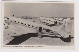 Vintage Rppc KLM K.L.M. Royal Dutch Airlines Douglas Dc-2 @ Schiphol Airport - 1919-1938: Fra Le Due Guerre